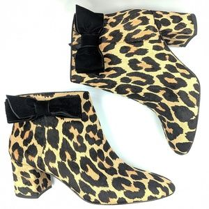 kate spade Shoes - New Kate Spade Holly Leopard Print Ankle Booties